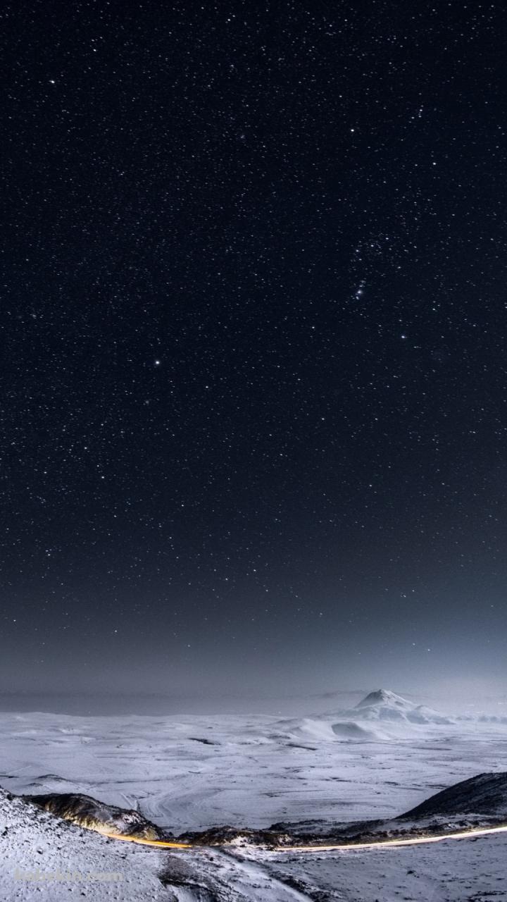 白い大地と星空のandroid壁紙 720 X 1280 壁紙キングダム スマホ版