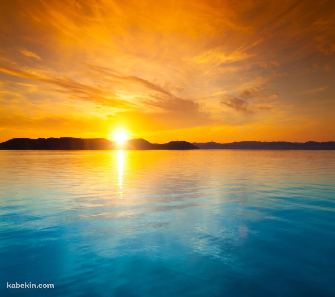 夕日と海のandroid壁紙 1080 X 960 壁紙キングダム スマホ版