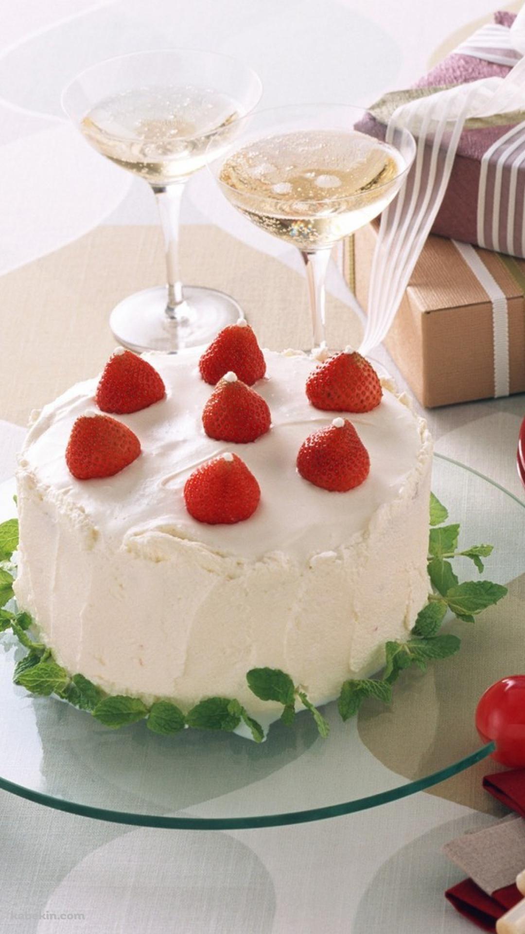 美味しそうな苺のショートケーキのandroid壁紙 1080 X 19 壁紙キングダム スマホ版