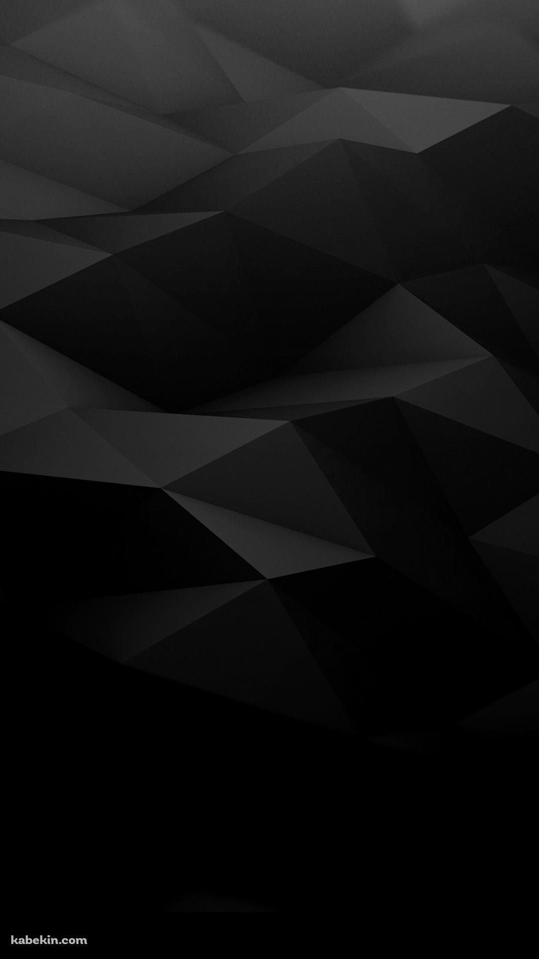黒の凹凸のあるポリゴンのandroid壁紙 1080 X 1920 壁紙キングダム