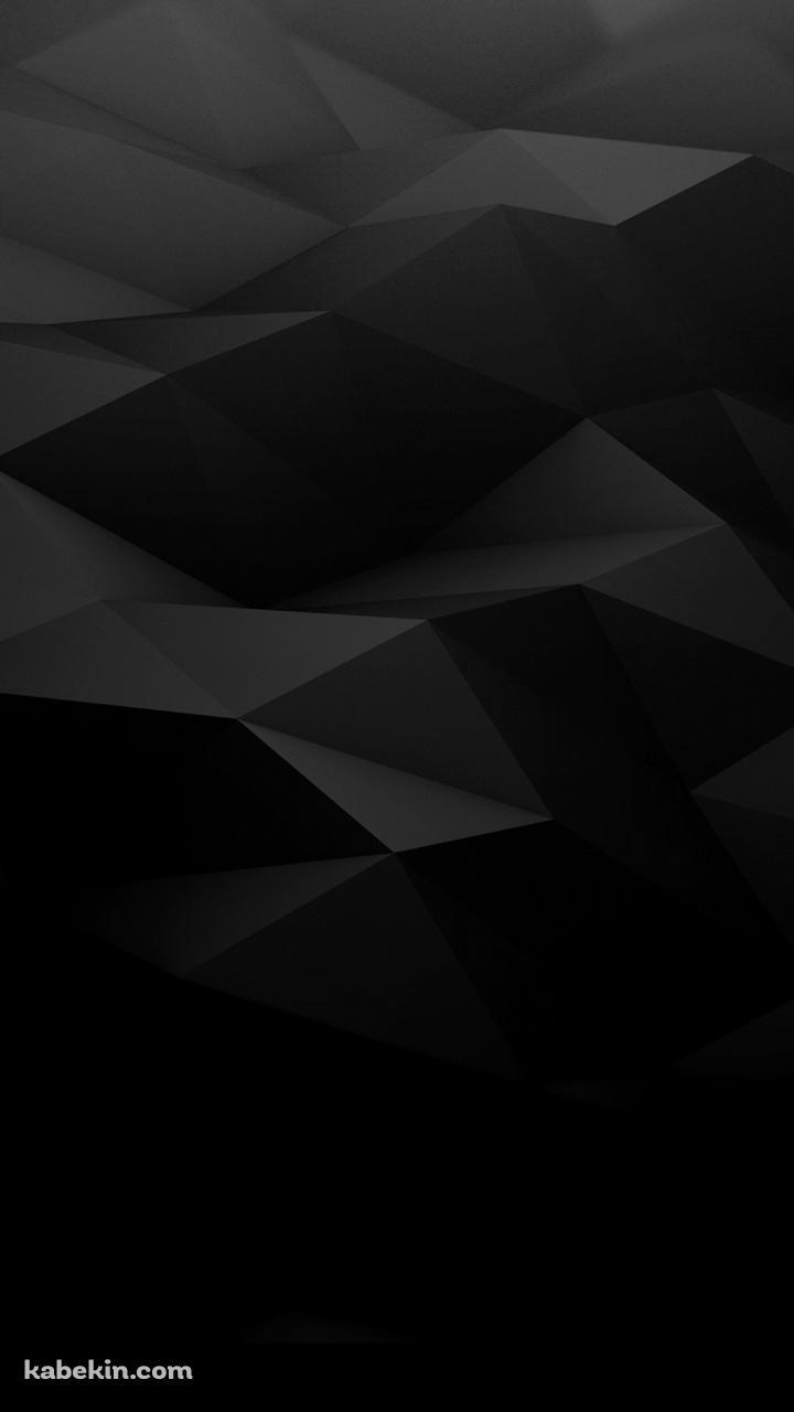 黒の凹凸のあるポリゴンのandroid壁紙 720 X 1280 壁紙キングダム スマホ版