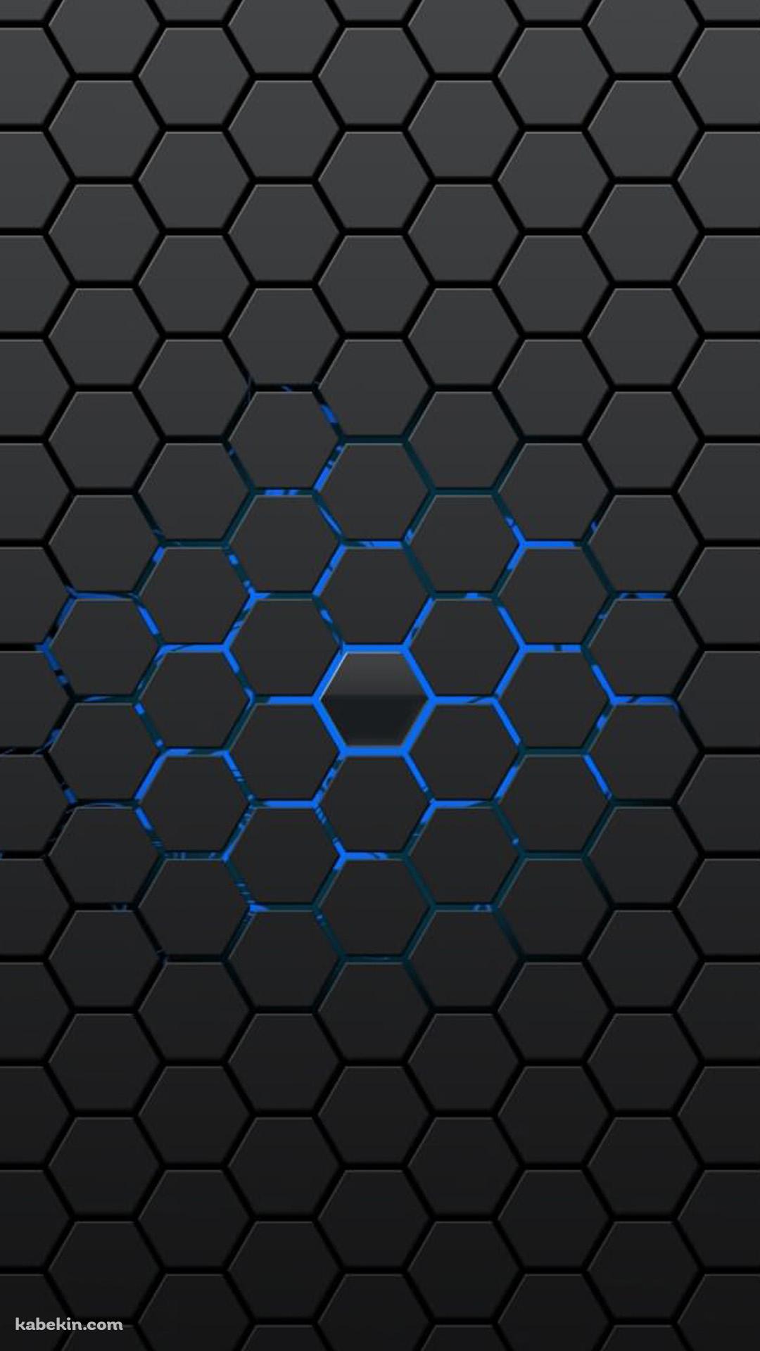 黒と青の六角形のandroid壁紙 1080 X 19 壁紙キングダム スマホ版