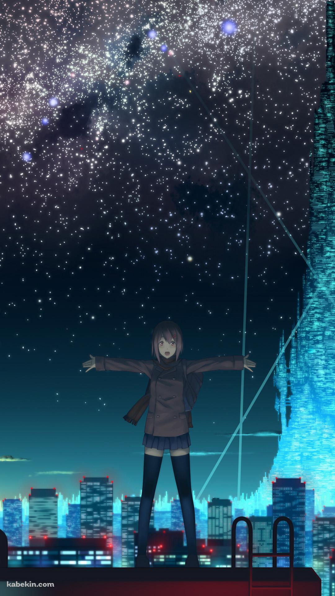 夜景と女子高生のandroid壁紙 1080 X 1920 壁紙キングダム スマホ版