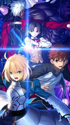 Fate/stay night Unlimited Blade Works アーチャー 衛宮士郎 セイバー 遠坂凛のiPhone用壁紙