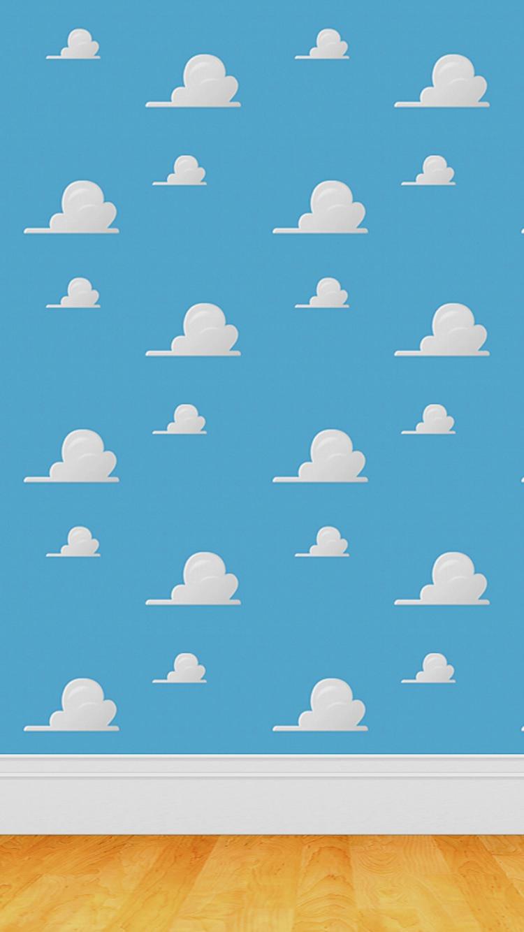 かわいい雲のパターンのiphone7壁紙 壁紙キングダム スマホ版