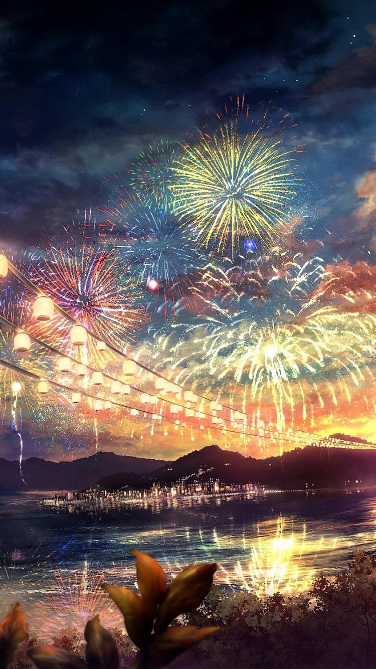 夏祭りの花火のiphone7壁紙 壁紙キングダム スマホ版