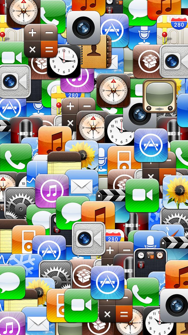 たくさんのアプリのiphone6壁紙 壁紙キングダム スマホ版