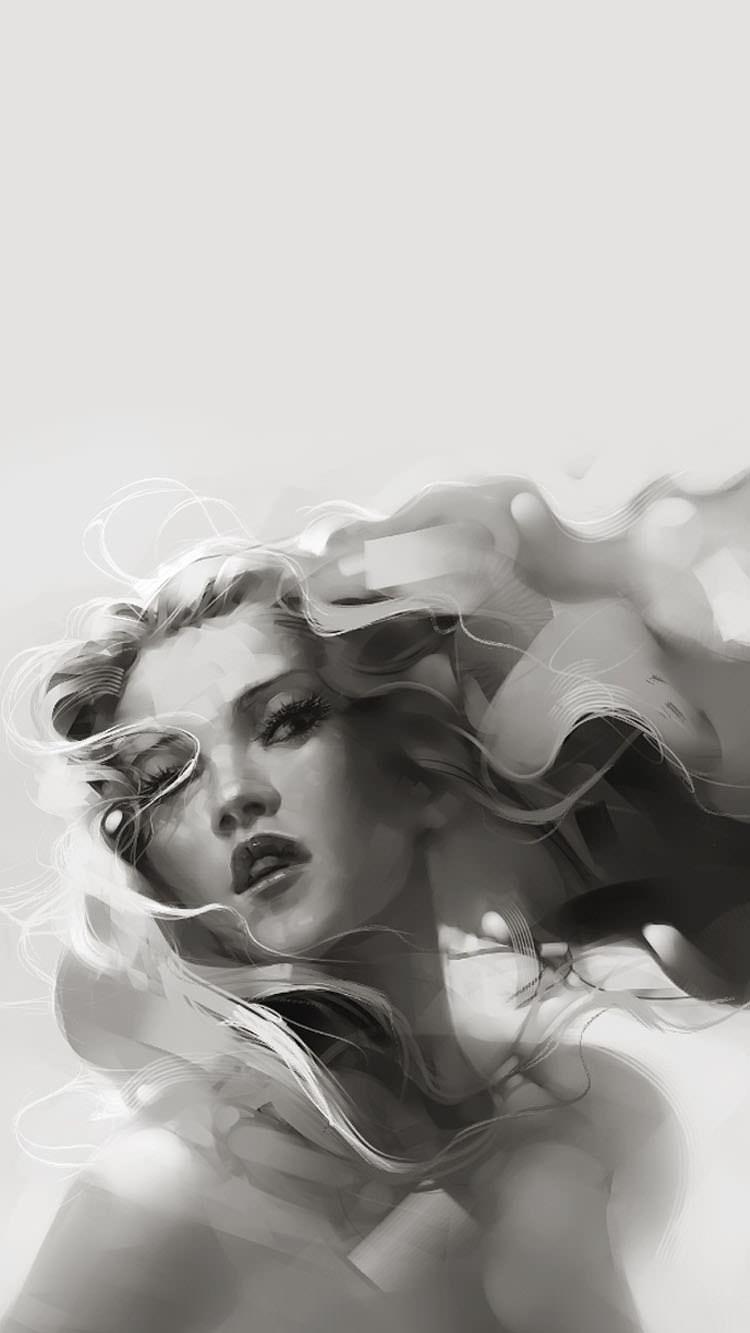 アート 女性のiphone6壁紙 壁紙キングダム スマホ版