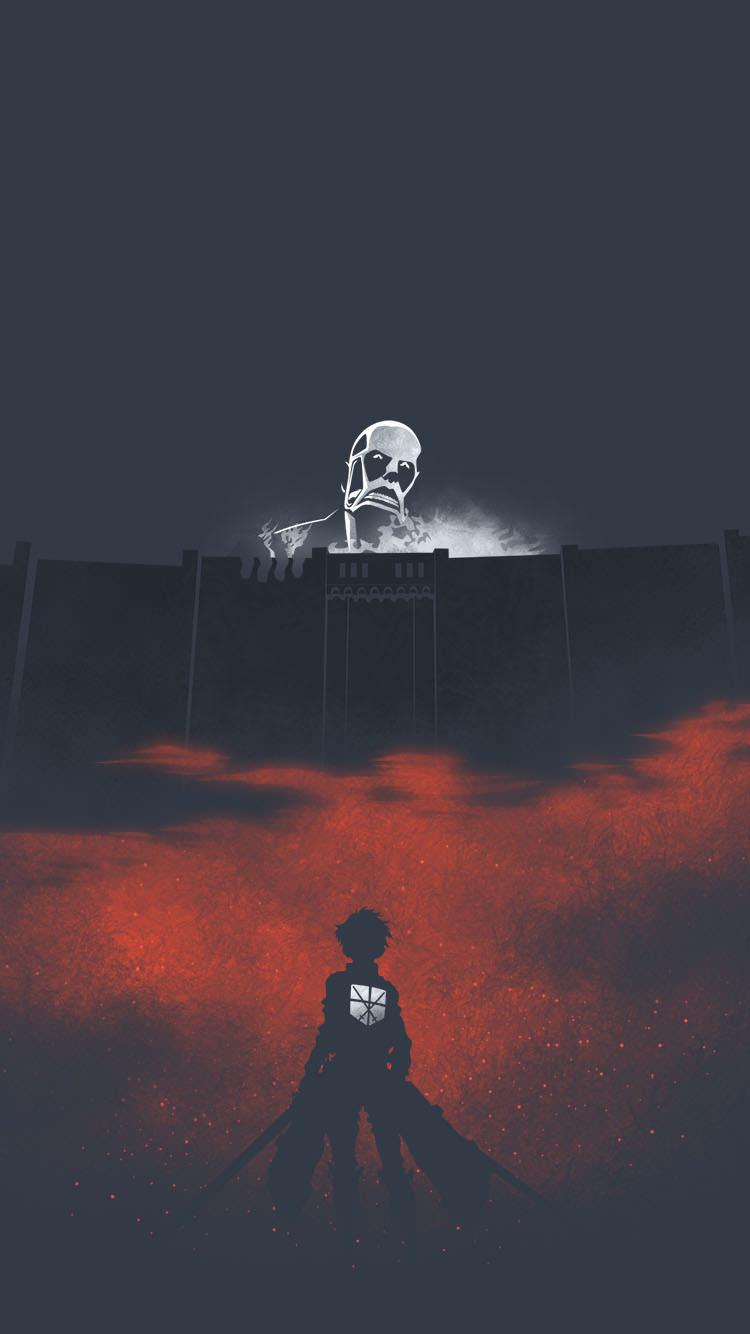 進撃の巨人 塀の外の巨人のiphone7壁紙 壁紙キングダム スマホ版