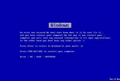 WIndows Blue screenの壁紙