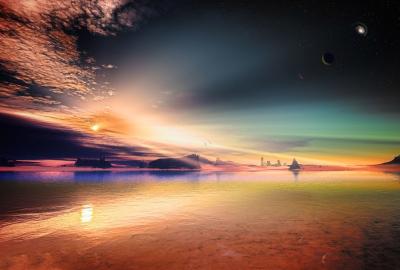 幻想的な海と空の壁紙 壁紙キングダム Pc デスクトップ用
