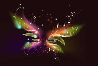 蝶のアブストラクトアートの壁紙