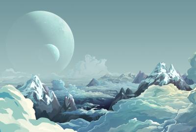 幻想的な青の世界の壁紙 壁紙キングダム Pc デスクトップ用