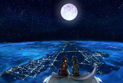 夜景を観る二人の壁紙 壁紙キングダム Pcデスクトップ用