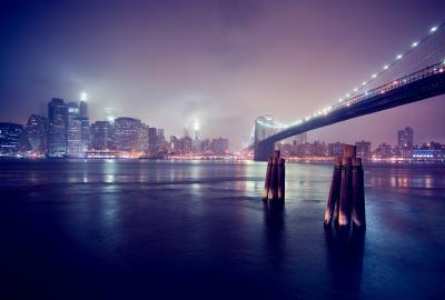 夜の海と都会の壁紙 壁紙キングダム Pc デスクトップ用