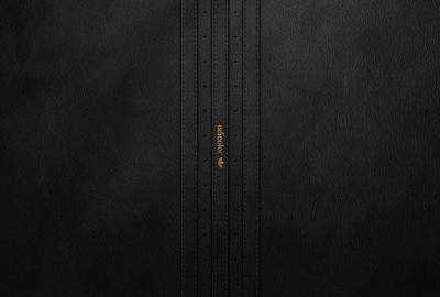 アディダス 黒のレザーの壁紙