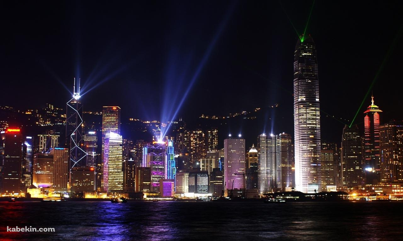 HongKong nightの壁紙