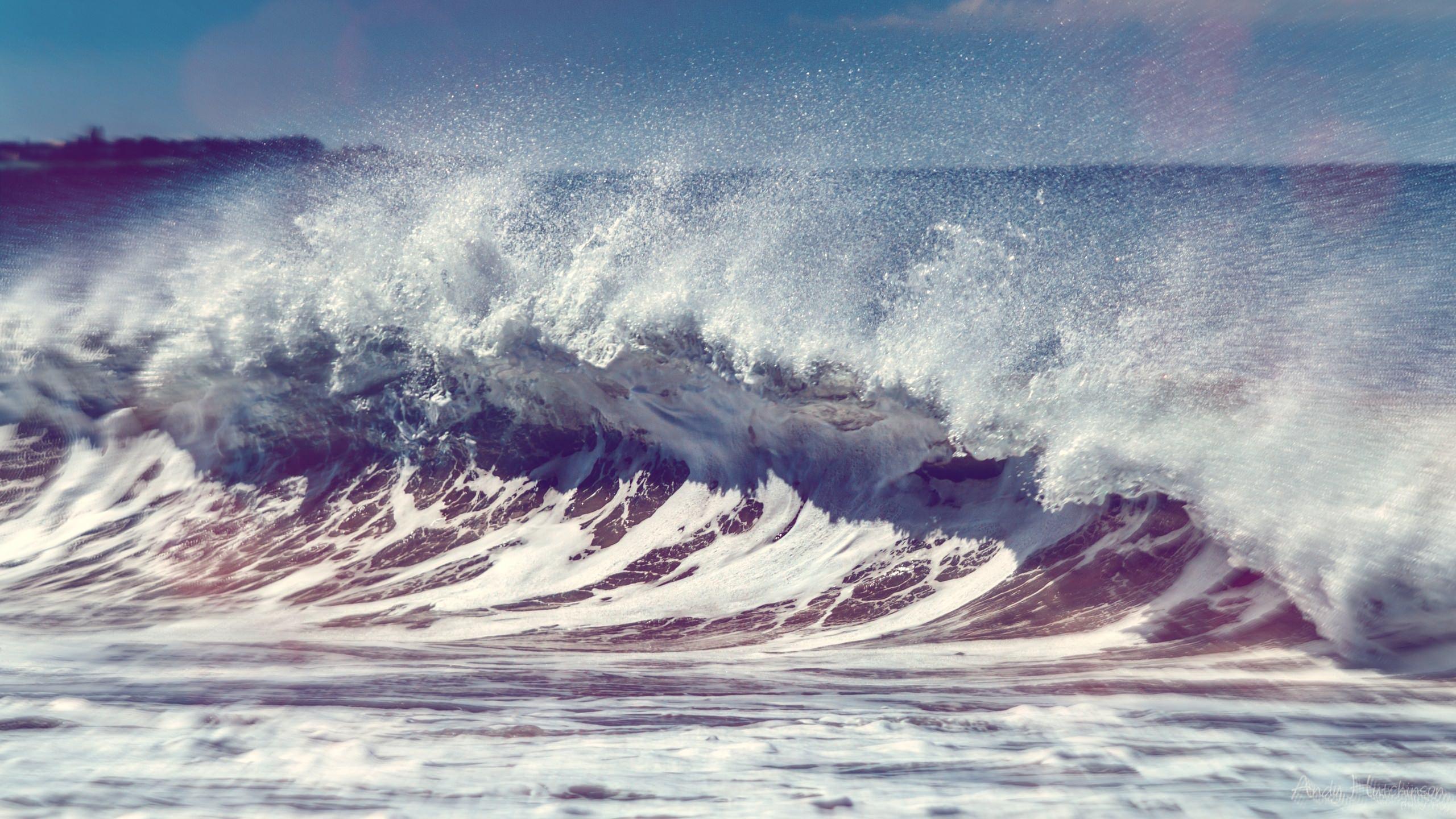 荒い波 2560 X 1440 の壁紙 壁紙キングダム Pc デスクトップ版
